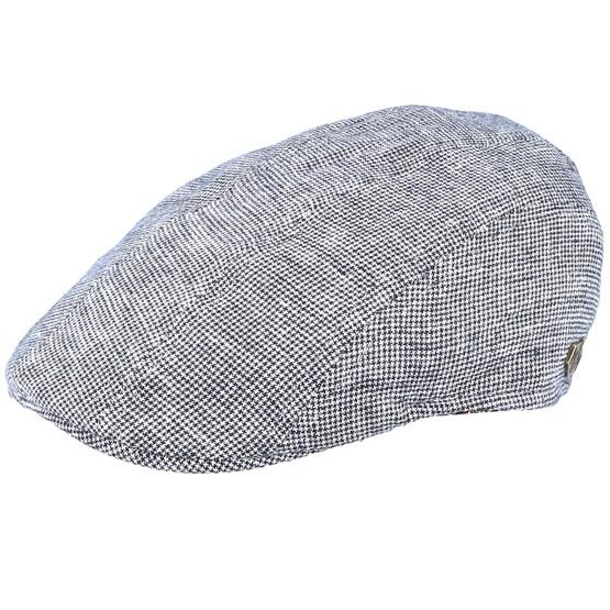 Keps Maddy Linen Mix Grey Flat Cap - MJM Hats - Grå Flat Caps
