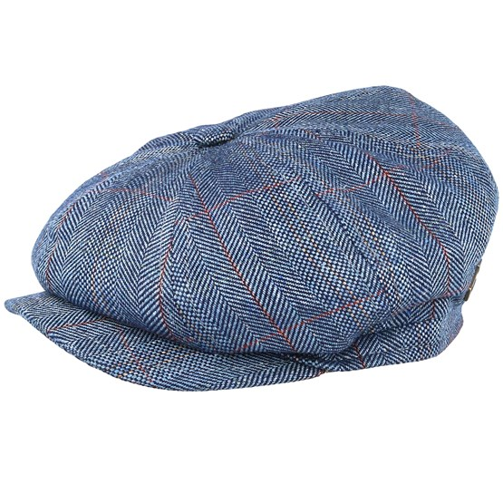 Keps Montreal Silk Blue Flat Cap - MJM Hats - Blå Flat Caps