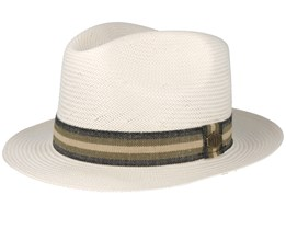 Peter Soft Straw Off White Fedora - MJM Hats