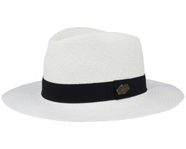 Franco Panama Natural White/Black Traveller - MJM Hats