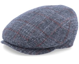 New York Wool Grey Checkered Flat Cap - MJM Hats