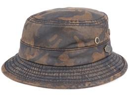 Sluis Cotton Mix Brown Camo Bucket - MJM Hats