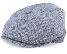Montreal Eco Merino Wool Heather Grey Flat Cap - MJM Hats