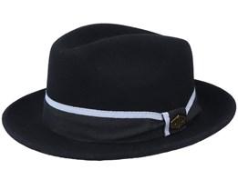 Alberto 100 % Wool Black Fedora - MJM Hats