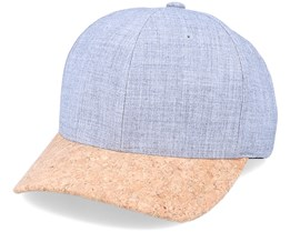 Heather Grey/Cork Adjustable - Yupoong