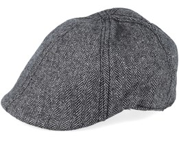Pascal Duckbill Black/Grey Flat Cap - State Of Wow