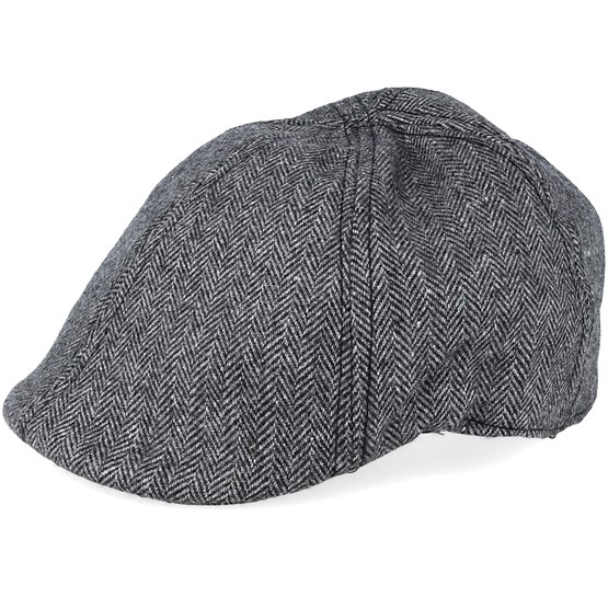Pascal Duckbill Black Grey Flat Cap - State Of Wow caps - Hatstoreworld.com d2f49967752c