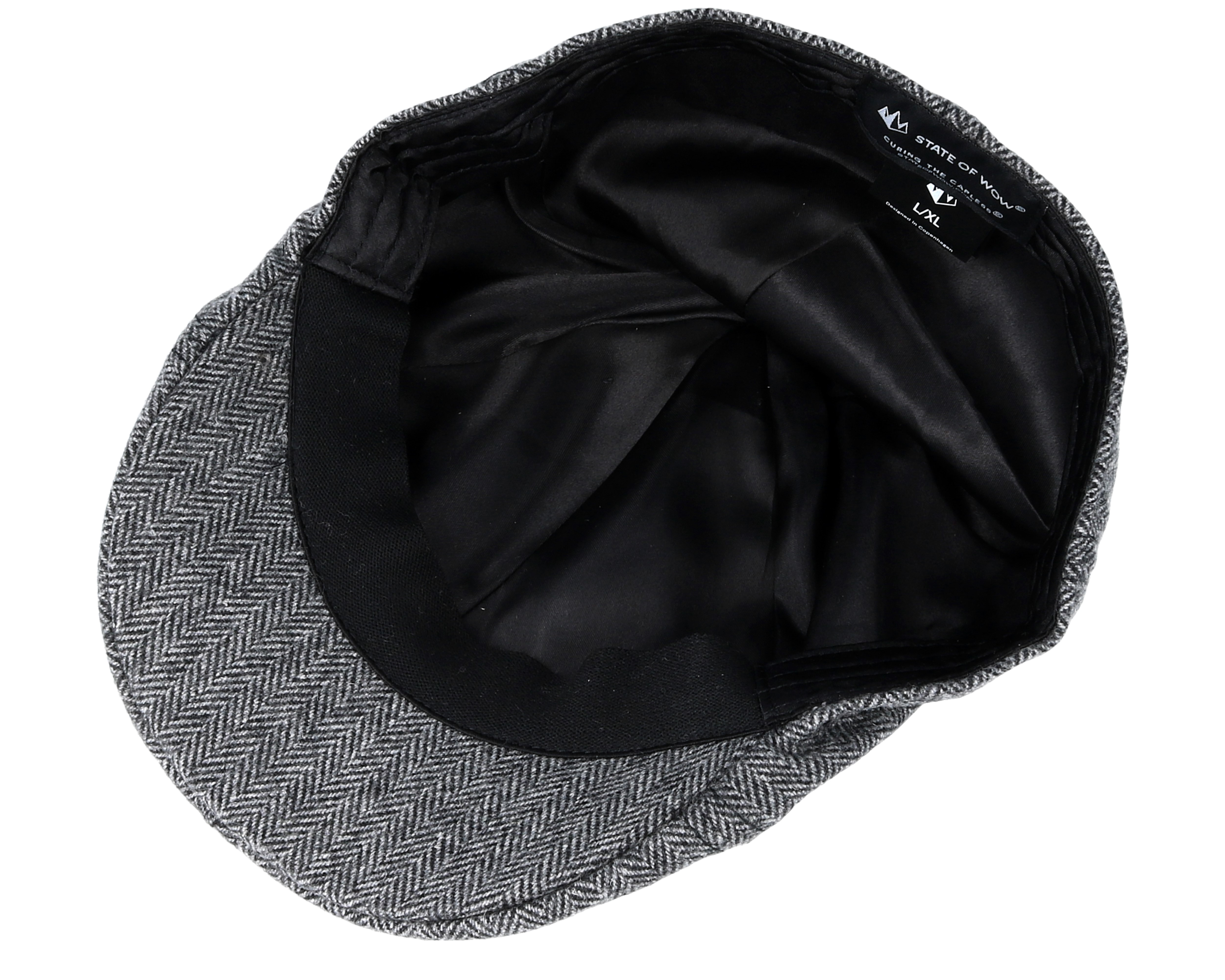 Pascal Duckbill Black Grey Flat Cap State Of Wow Caps