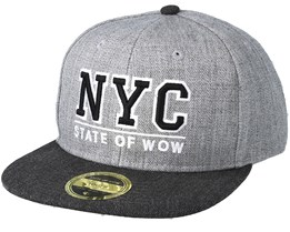 Kids Toronto 2 Junior Grey Snapback - State Of Wow