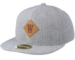 Kids West Grey Melange Snapback - State Of Wow