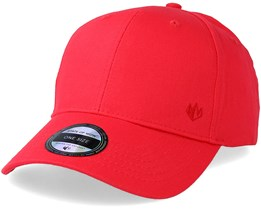 Wolf Baseball Cap Red Adjustable - State Of Wow