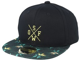 Kids Hamoa Black/Pattern Snapback - State Of Wow