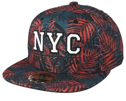 Kami NYC Grey/Red Snapback - State Of Wow