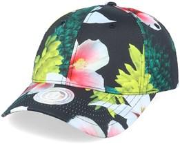 Eden Baseball Cap Black/Flowers Adjustable - Upfront