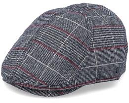 Chin Duckbill Black/Grey Flat Cap - Upfront