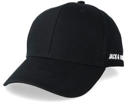 Basic Logo Baseball Cap Black Adjustable - Jack & Jones