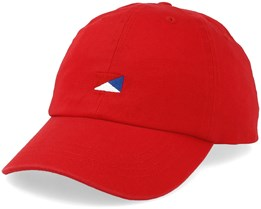 Halle Baseball Cap Red Adjustable - Jack & Jones