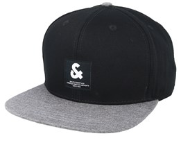 Jaccontrast Black/Grey Snapback - Jack & Jones