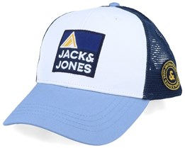 Explore White/Navy/Ashley Blue Trucker - Jack & Jones