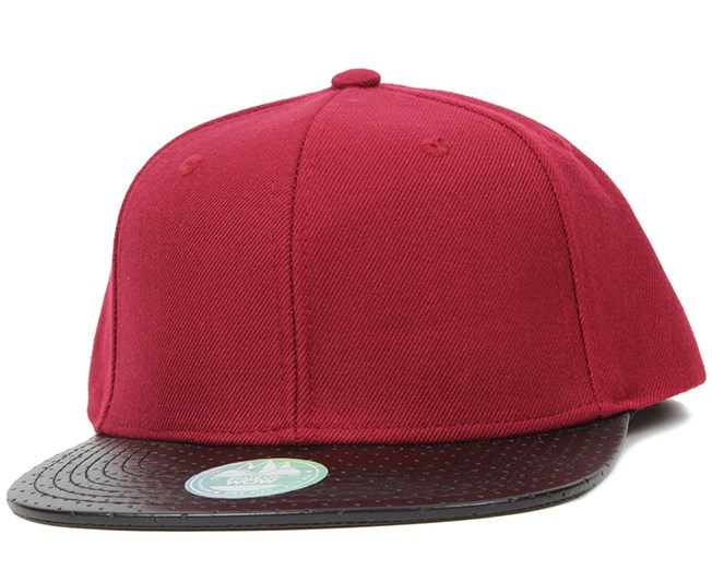 Two Tones Perforated Bordeaux Black Snapback - State Of Wow 80294fb94bca7