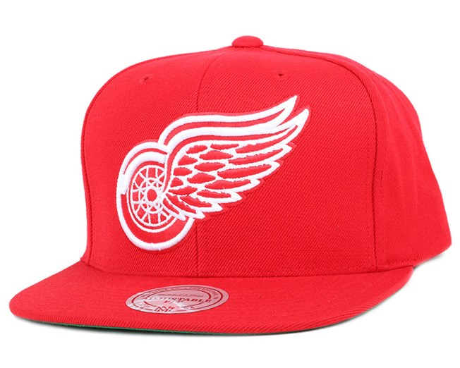 Detroit Red Wings Wool Solid Red Snapback - Mitchell   Ness 9b26dcd8c86