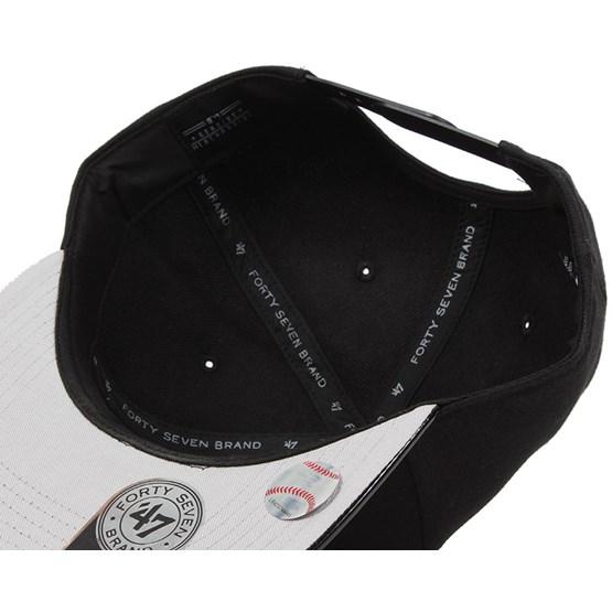 6595b0cab4a NY Yankees Shinedown Black White Snapback - 47 Brand caps -  Hatstoreworld.com
