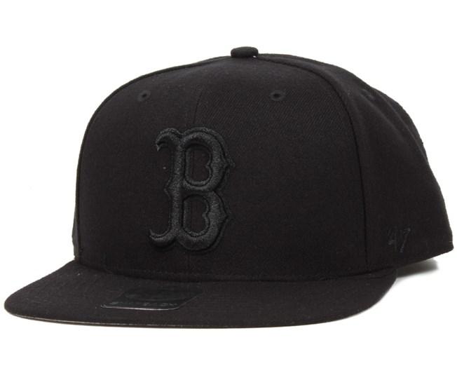 Boston Red Sox Sure Shot Black Black Snapback - 47 Brand - Start ... f144998a9a50