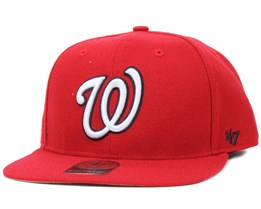 Washington Nationals Sure Shot Red/White Snapback - 47 Brand