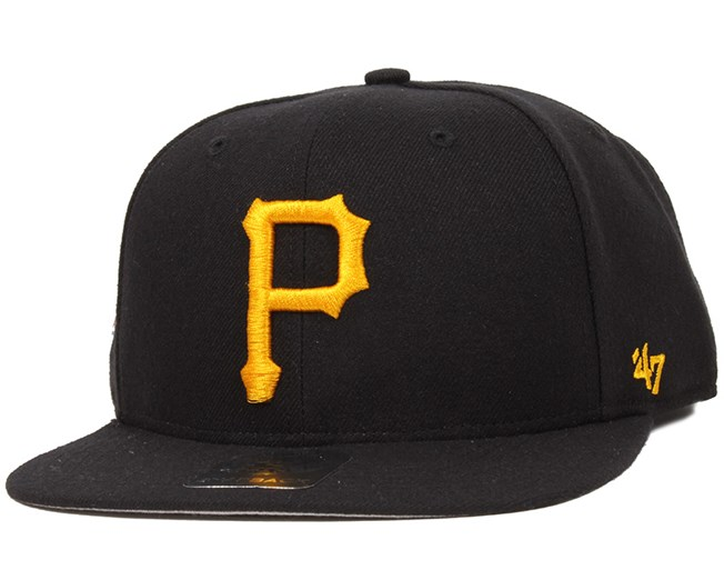 2b84fcf9b4b Pittsburgh Pirates Sure Shot Black Yellow Snapback - 47 Brand caps ...