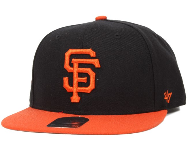 7dcd67b7c2a9b SF Giants Sure Shot 2 Tone Black Orange Snapback - 47 Brand caps ...
