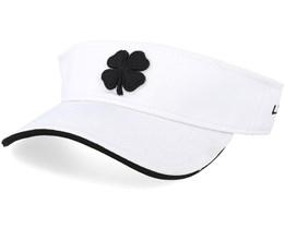 Visor Black White/White Visor - Black Clover