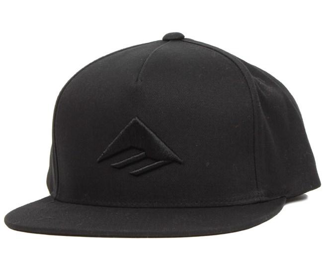 0b23b1a0e Triangle Black Snapback - Emerica caps - Hatstoreworld.com
