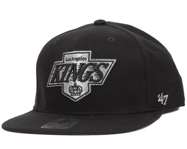 76fc41ebbf3bf La Kings Sure Shot Black Snapback - 47 Brand caps - Hatstoreworld.com