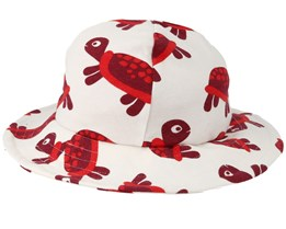 Kids Sun Hat Turtle White Bucket - JNY Kids