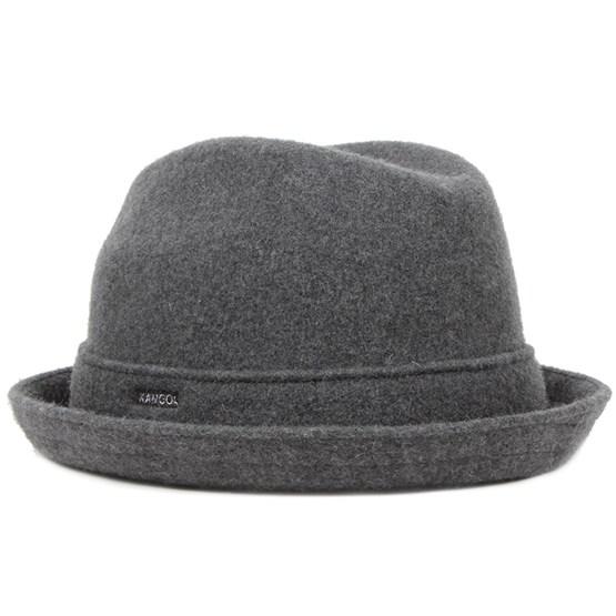Hatt Wool Player Dark Flannel - Kangol - Grå Fedora