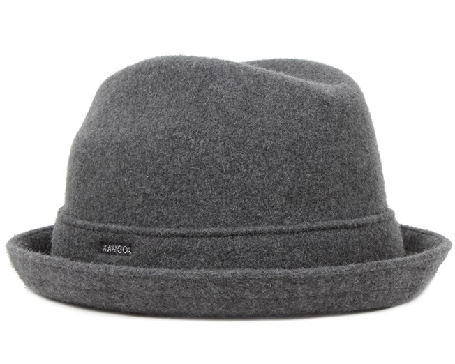 Wool Player Dark Flannel - Kangol hat - Hatstore.co.in 3c09a65055a