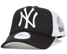 NY Yankees Black/White Clean Trucker - New Era