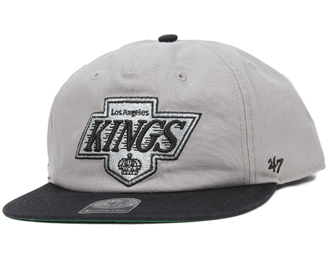 00b347d73775e LA Kings Marvin Grey Black Snapback - 47 Brand caps - Hatstoreworld.com