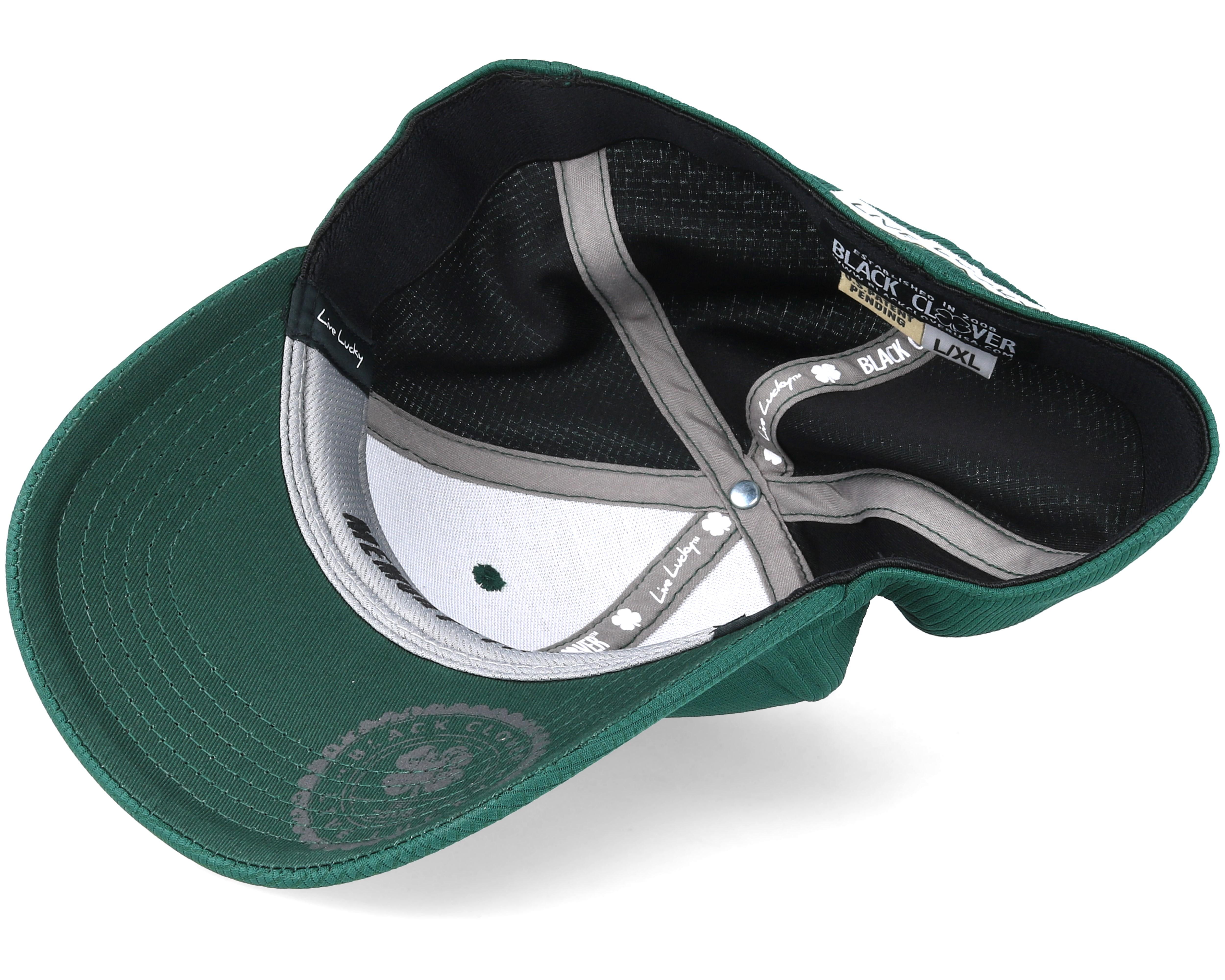 Iron Green White Dark Grey Flexfit Black Clover Caps