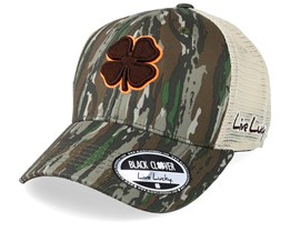 Hunt Lucky 20 Camo/Brown/Orange Trucker - Black Clover