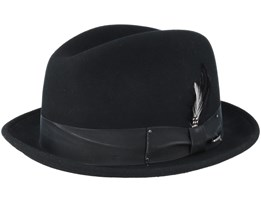 Tino Felt Wool Black Trilby - Bailey