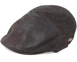 Lazar Dark Coffee Flat Cap - Bailey