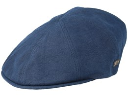 Booth Navy Flat Cap - Bailey