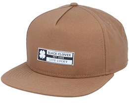 Riptide Luck 3 Brown Snapback - Black Clover