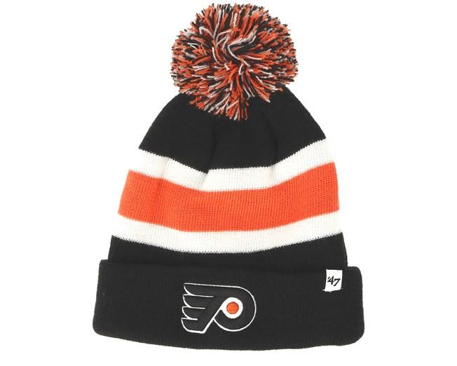 8d030d80a33 Philadelphia Flyers Breakaway Knit Black Pom - 47 Brand beanies -  Hatstoreworld.com