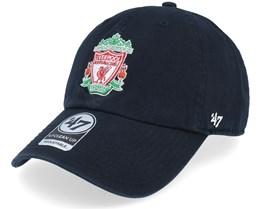 Liverpool FC Crest Clean Up Black Adjustable - 47 Brand