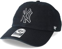 new styles 2b30b 1e4fc New York Yankees Clean Up Black 2 Adjustable - 47 Brand
