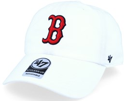 Boston Red Sox 2 Tone Clean Up White Adjustable - 47 Brand