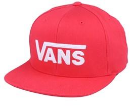 Drop V II Red/White Snapback - Vans