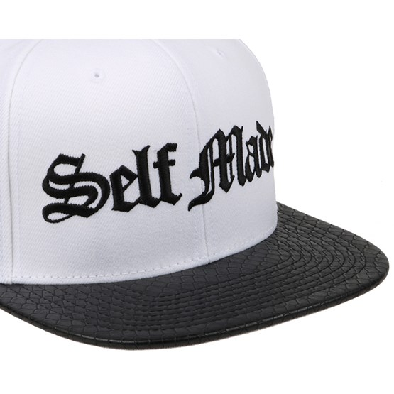Self Made Python White Snapback - Famous S S caps  531483f3877